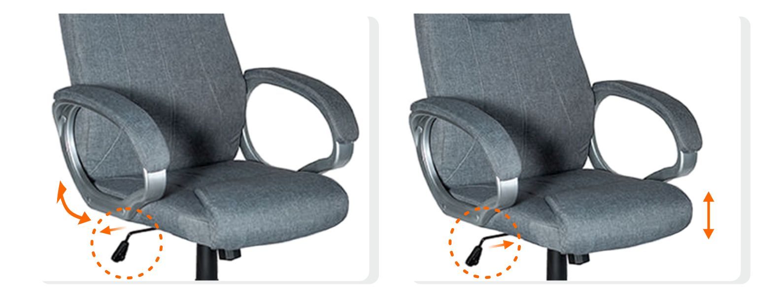 кресло офисное серое ткань Prime
